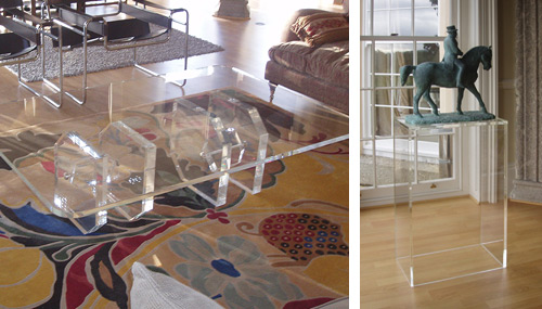 Perspex Coffee Table and Plinth