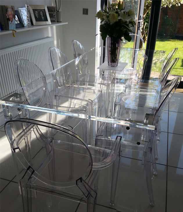 Perspex Dining Table