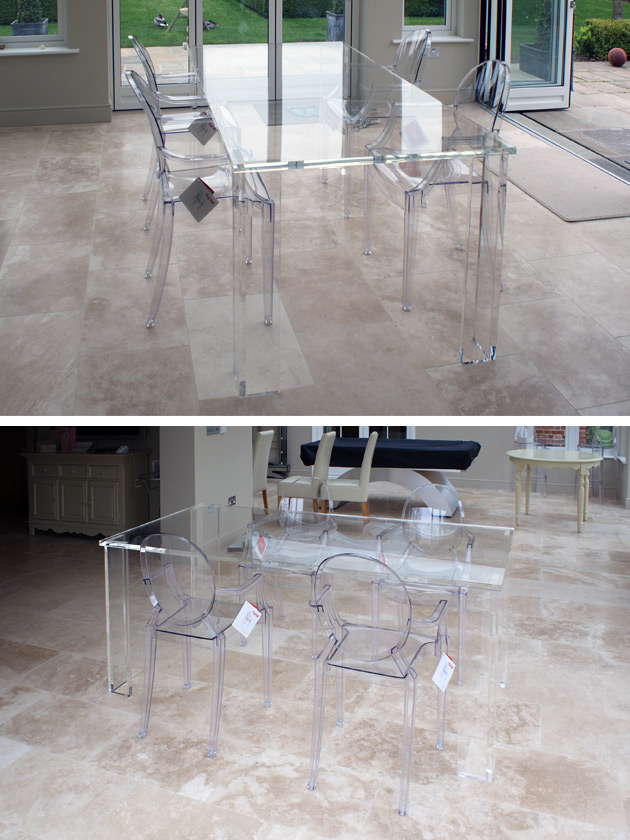 Clear Acrylic Dining Set