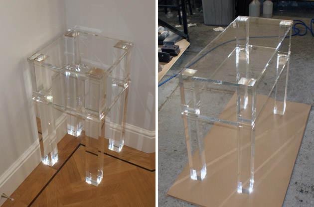 Perspex Side Tables